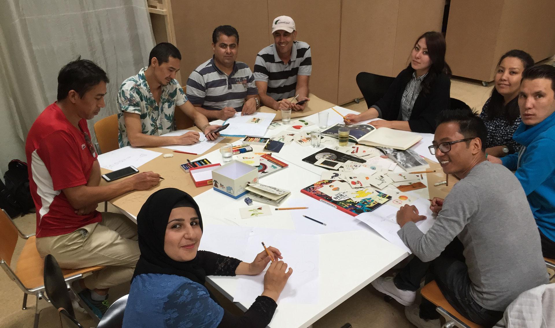 Ein Blick in die Schreibgruppe